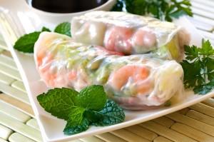 Sommer Rollen Vietnamesische Küche Vietnam Küche