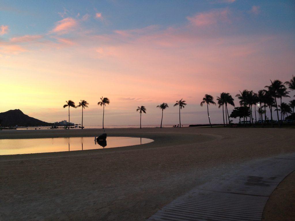 Sonnenaufgang Honolulu Sunrise Jachthafen Diamond Head