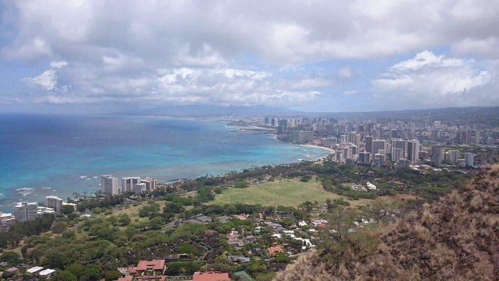 Ausblick Gipfel Diamond Head Honolulu