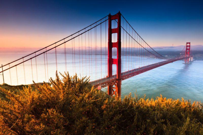 golden gate bridge, tripodo, usa, san fransisco, architektonische Meisterwerke
