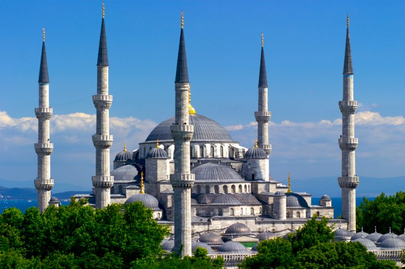 türkei. Istanbul, architektonische Meisterwerke; tripodo
