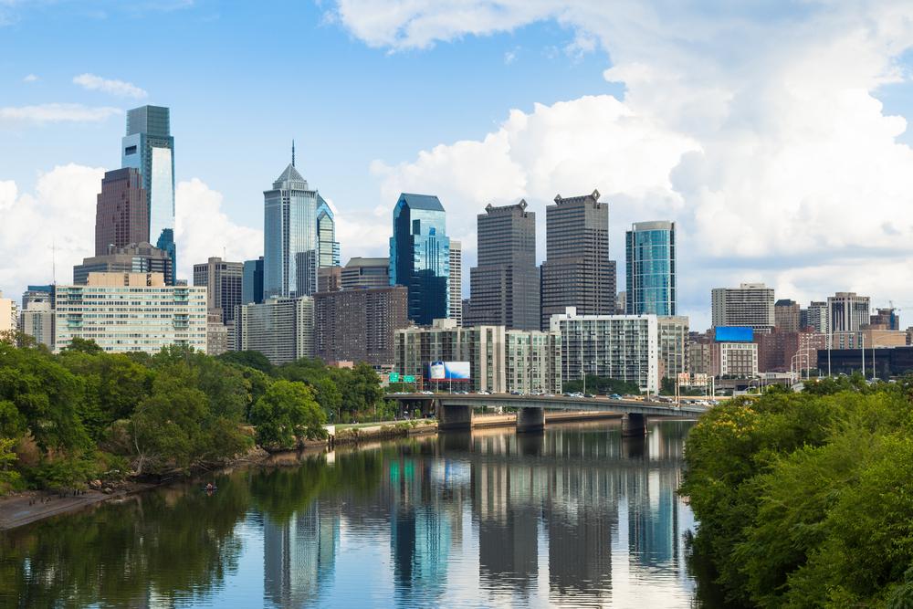 Philadelphia, tripodo, tripodo blog, wolkenkratzer, usa, skyline, schuylkill river, skyscraper
