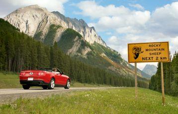 Fahrt in die Rockies