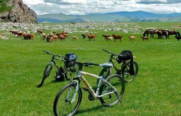 Mongolei-Radreise-Steppe