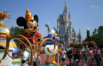 Disney World Orlando -Paraden mit Mickey Mouse.