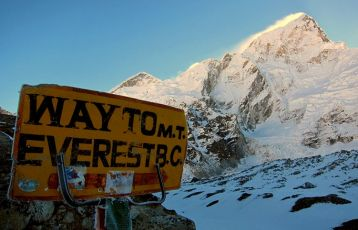 Weg nach Everest base camp