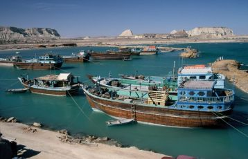 Der Hafen von Susa auf der Insel Qeshm