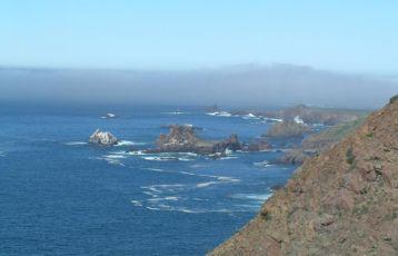 Die Küste südlich von Tijuana