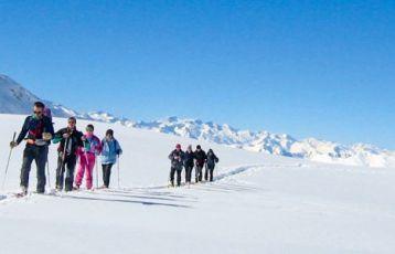 Schneeschuhwandern in den Pyrenäen