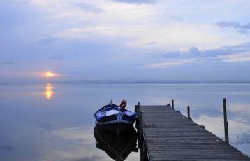 | Sonnenaufgang am Albufera See.