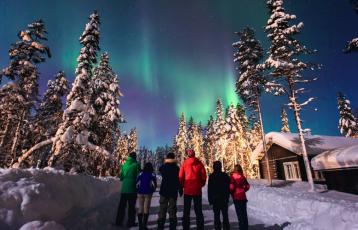 Urlaub im winterlichen Lappland