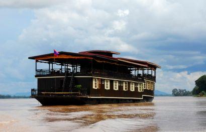 Schiffsreise auf dem Mekong in Laos