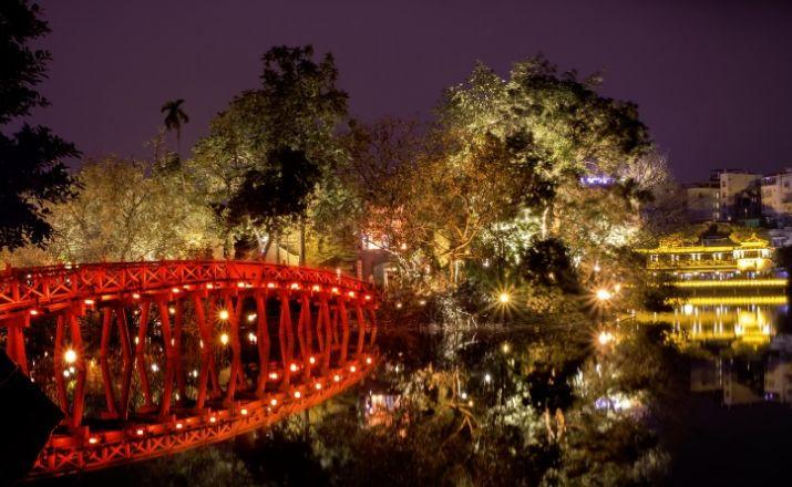Hanoi - Huc Brücke
