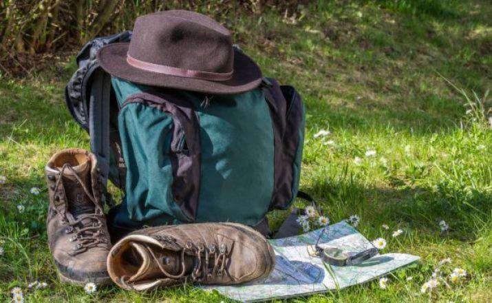Gut vorbereitet für die Wanderung