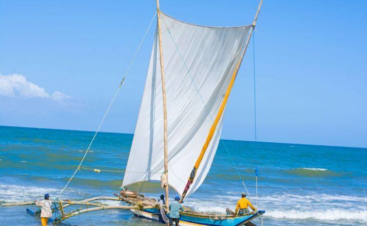 am Strand von Negombo