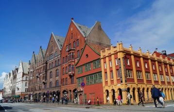Bryggen in Bergen and Hanseatic Museum