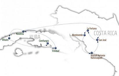 Authentisch durch Kuba und Costa Rica