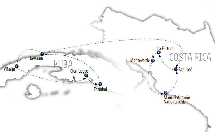 Authentisch durch Kuba & Costa Rica