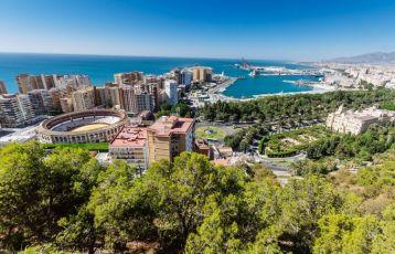   Panorama-Blick über Málaga