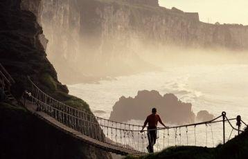 Carrick-a-Rede-Ropw Bridge in Antrim/Nordirland